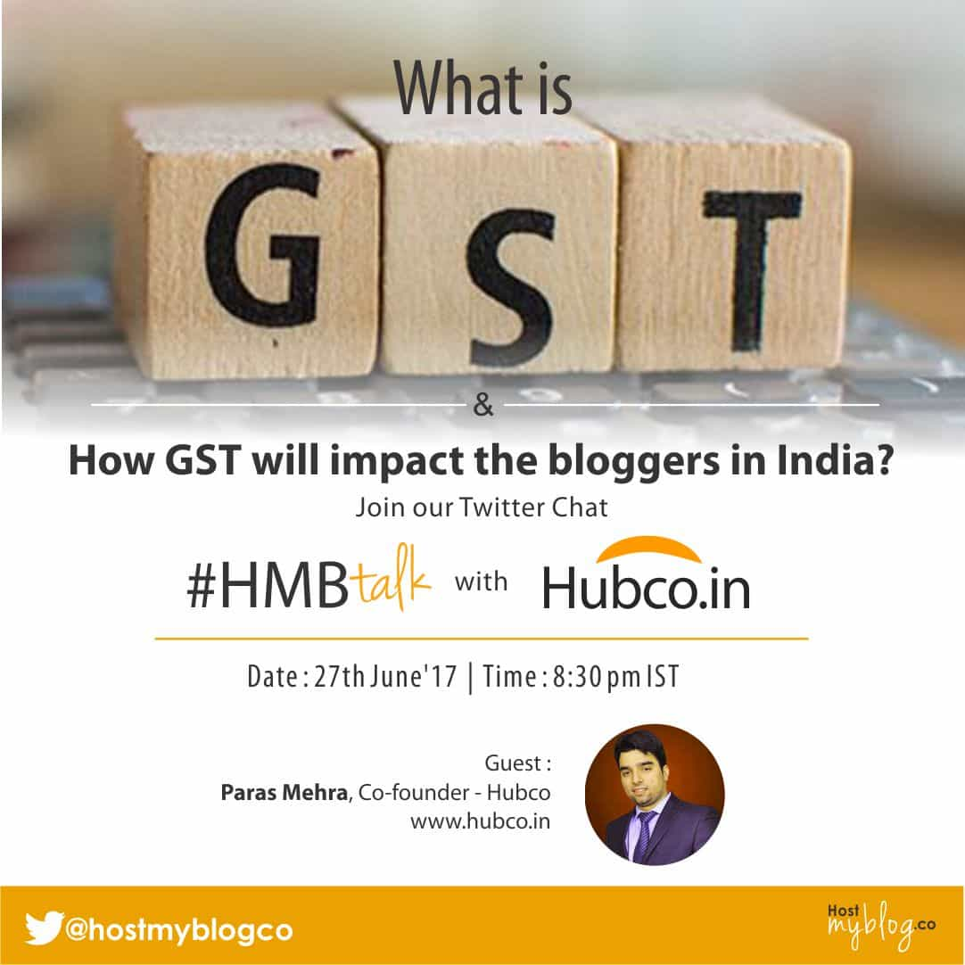 GST impact on Indian Bloggers